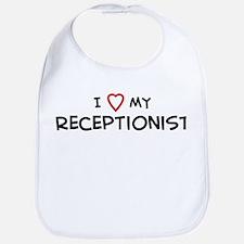 I Love Receptionist Bib