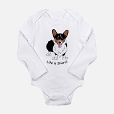 Tri-Colored Corgi Long Sleeve Infant Bodysuit