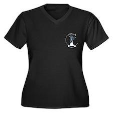 Black White SFT IAAM Pocket Women's Plus Size V-Ne