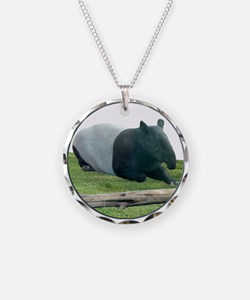 Helaine's Tapir Necklace Circle Charm