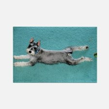 Puppy Yoga Rectangle Magnet (100 pack)