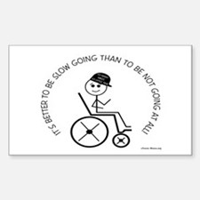 Slow Going Wheelchair 1 Decal
