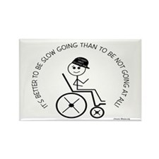 Slow Going Wheelchair 1 Rectangle Magnet (100 pack