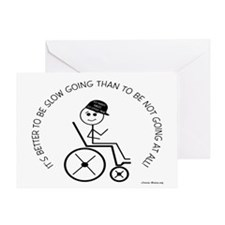 Slow Going Wheelchair 1 Greeting Card