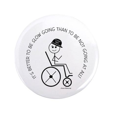 "Slow Going Wheelchair 1 3.5"" Button"