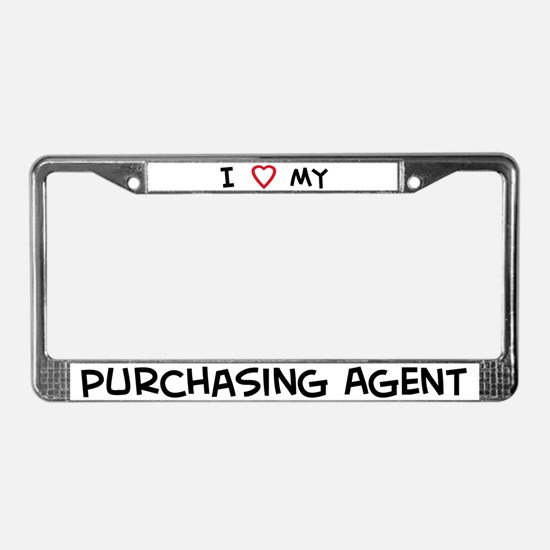 I Love Purchasing Agent License Plate Frame