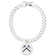 Crossed Rock Hammers Bracelet