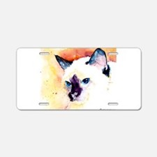 Siamese Cat Gifts Aluminum License Plate