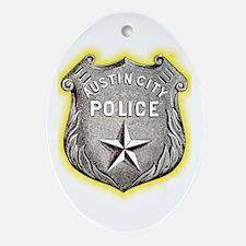Austin City Police Ornament (Oval)