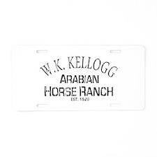 Arabian Horse Kellogg Ranch Aluminum License Plate