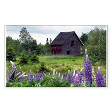 Border farm gone to lupine Rectangle Decal