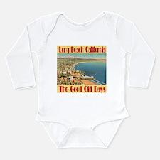 Long Beach California Long Sleeve Infant Bodysuit
