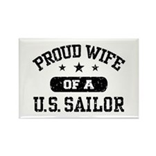 Proud Wife of a US Sailor Rectangle Magnet
