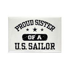 Proud Sister of a US Sailor Rectangle Magnet