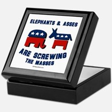 Elephants & Asses are screwing the masses -  Tile
