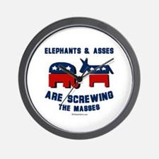 Elephants & Asses are screwing the masses -  Wall