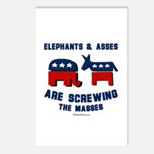 Elephants & Asses are screwing the masses -  Postc