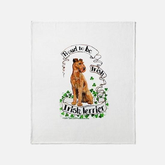 Proud Irish Terrier Throw Blanket