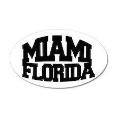 MIAMI FLORIDA 22x14 Oval Wall Peel
