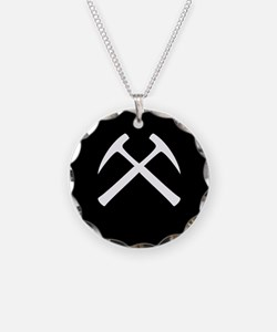 Crossed Rock Hammers Necklace