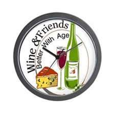 wine friends cheese aged Wall Clock