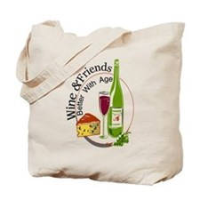 wine friends cheese aged Tote Bag