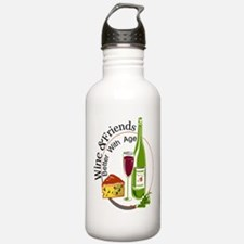 wine friends cheese aged Water Bottle