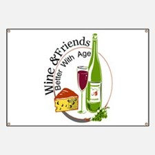 wine friends cheese aged Banner