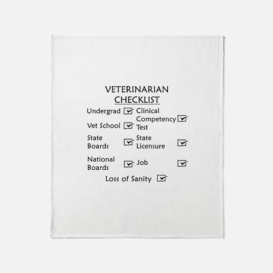Veterinarian Checklist Throw Blanket