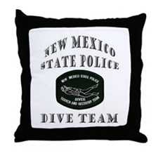 New Mexico State Police Diver Throw Pillow