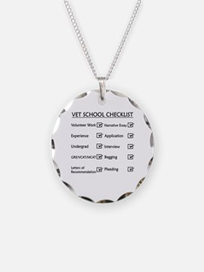 Vet School Checklist Necklace