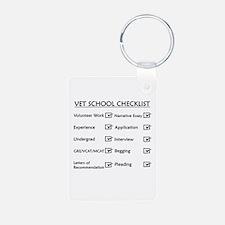 Vet School Checklist Keychains