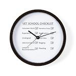 Vet School Checklist Wall Clock