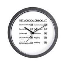 Vet School Checklist Wall Clock