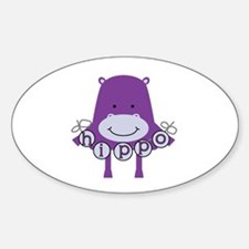 Cartoon Hippo Decal