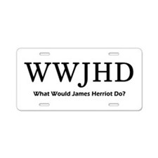 What Would James Herriot Do? Aluminum License Plat
