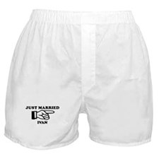 Just Married Ivan Boxer Shorts