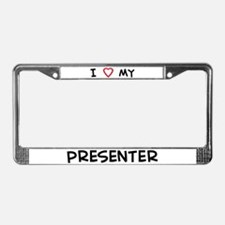 I Love Presenter License Plate Frame