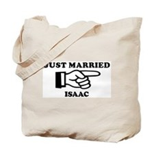 Just Married Isaac Tote Bag