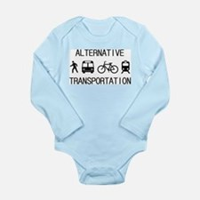 Cute Light cycle Long Sleeve Infant Bodysuit