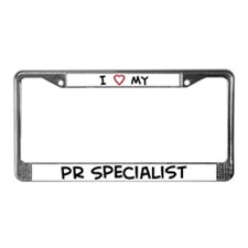 I Love PR Specialist License Plate Frame