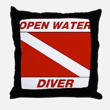 Cute Advanced diver Throw Pillow
