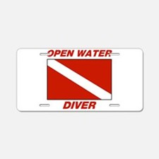 Cute Diving Aluminum License Plate