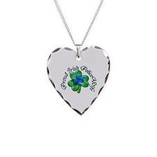 Proud Irish PoliceWife Necklace Heart Charm