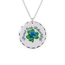 Proud Irish PoliceWife Necklace Circle Charm