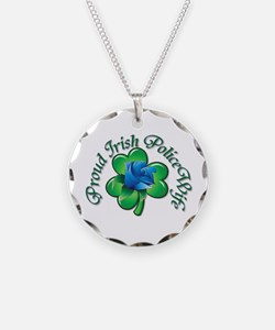 Proud Irish PoliceWife Necklace Circle Charm