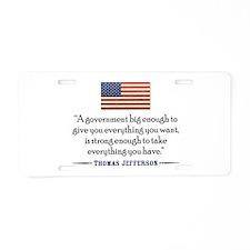 Thomas Jefferson: Government Aluminum License Plat