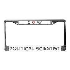 I Love Political Scientist License Plate Frame