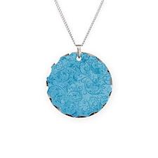 Antique Swirls Blue Necklace