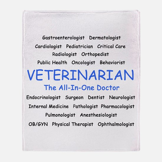 Veterinarian The All-In-One D Throw Blanket